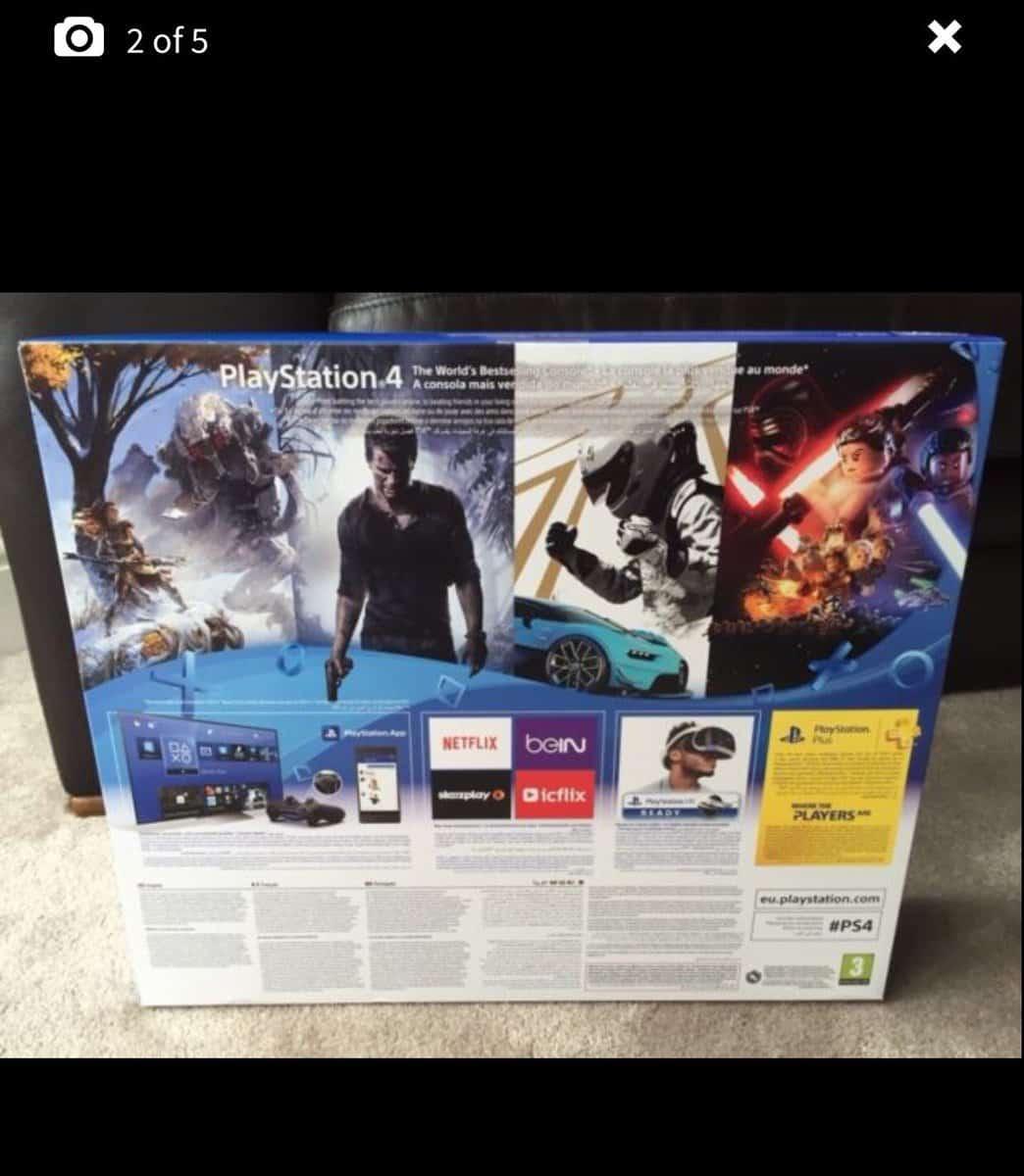 PlayStation 4 Slim caja