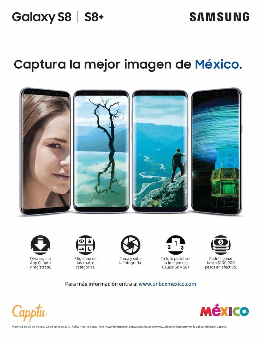 UnboxMexico GalaxyS8 Gana hasta 100 mil pesos tomando fotos con tu Samsung Galaxy