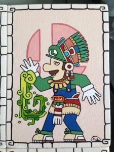Personajes de Nintendo al estilo Maya 6